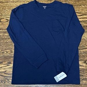 New Carters Long Sleeve Tee, Boys Sz 14